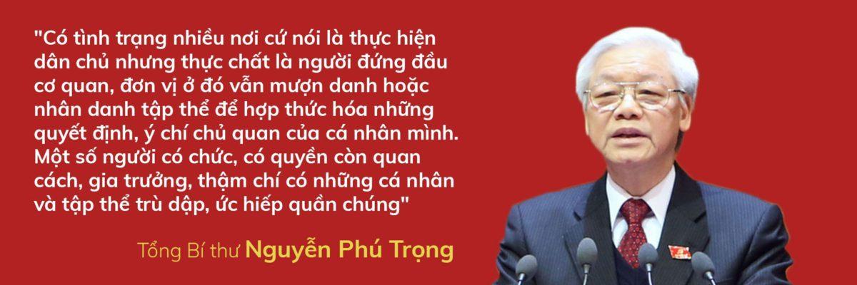 said 1531801491499937802420 - Tổng Bí thư Nguyễn Phú Trọng nói về dân chủ cơ sở