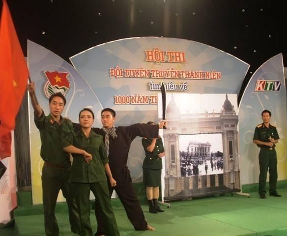 Hoạt cảnh dự thi của đơn vị Bộ Chỉ huy Quân sự tỉnh.