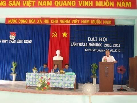 images daihoicamlam - Đại hội Đoàn trường Trần Bình Trọng huyện Cam Lâm lần thứ 32