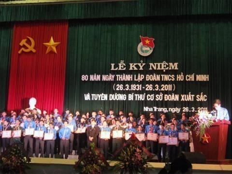 images lekyniem80nam Dong chi Le Thanh Quang bi thu tinh uy phat bieu tai buoi le - Lễ kỷ niệm 80 năm thành lập Đoàn TNCS Hồ Chí Minh và tuyên dương 80 Bí thư cơ sở Đoàn xuất  sắc