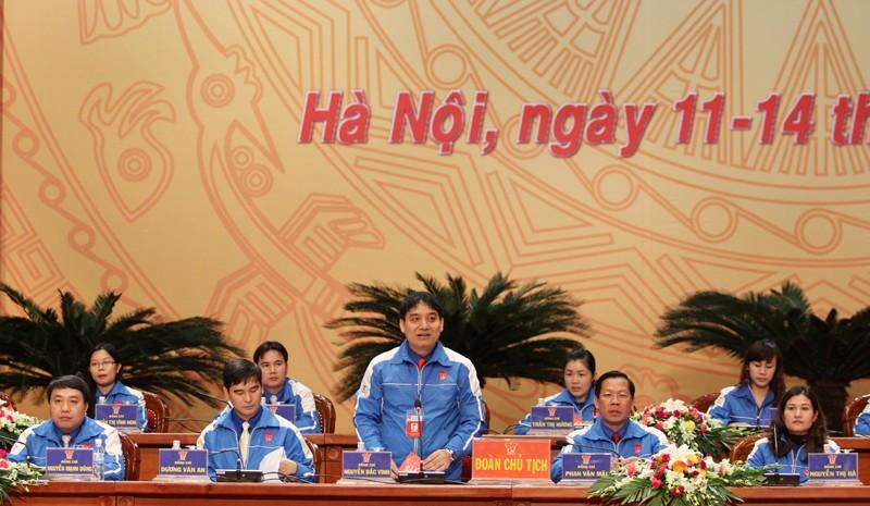 0078doanchutich 1 - Phiên thứ nhất Đại hội đại biểu Đoàn TNCS Hồ Chí Minh toàn quốc lần thứ X