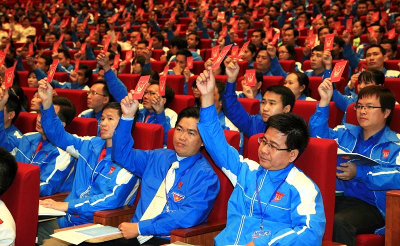 1131bieuquyet 1 - Phiên thứ nhất Đại hội đại biểu Đoàn TNCS Hồ Chí Minh toàn quốc lần thứ X
