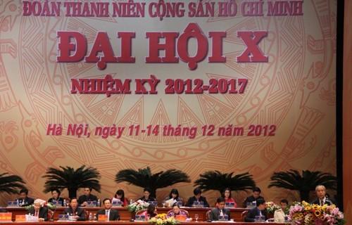 Đồng chí Huỳnh Đảm phát biểu tại Đại hội Đoàn toàn quốc lần thứ X