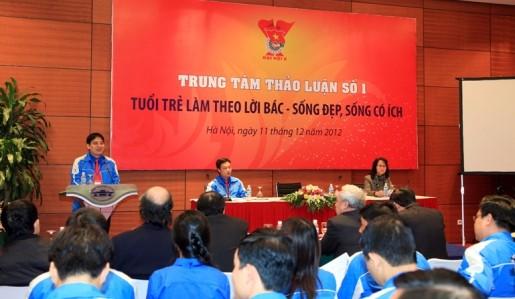 TT1.128129 1 - Toàn cảnh 10 trung tâm thảo luận Đại hội đại biểu Đoàn TNCS Hồ Chí Minh toàn quốc lần thứ X