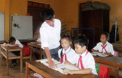 images808652 DHST1 - Lớp học đặc biệt ở đảo Sinh Tồn: Hòa vào tiếng sóng biển Trường Sa là những tiếng ê a của các em học sinh huyện đảo