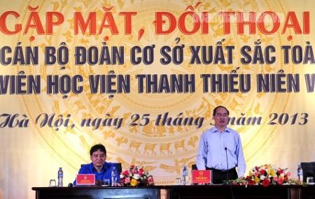 DSC0581 1 - Phó Thủ tướng Chính phủ Nguyễn Thiện nhân gặp gỡ, đối thoại với 82 cán bộ Đoàn cơ sở xuất sắc toàn quốc