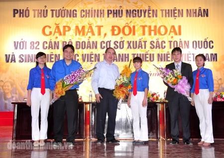DSC0595 1 - Phó Thủ tướng Chính phủ Nguyễn Thiện nhân gặp gỡ, đối thoại với 82 cán bộ Đoàn cơ sở xuất sắc toàn quốc