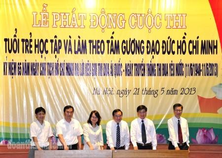 """DSC026628129 - Phát động cuộc thi trực tuyến: """"Tuổi trẻ học tập và làm theo tấm gương đạo đức Hồ Chí Minh"""""""