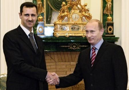 Tổng thống Syria Assad bắt tay Putin trong cuộc gặp gỡ tháng 12/2006
