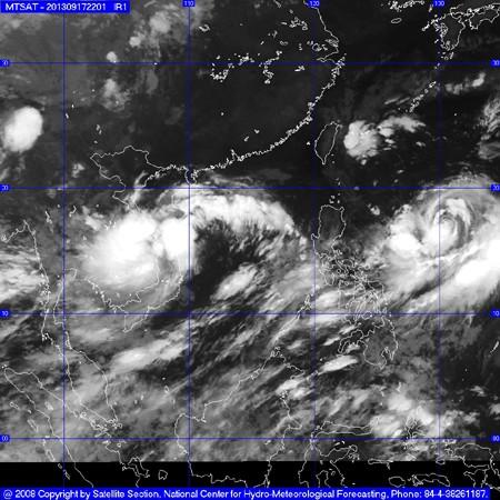 bao1809 551f9 1 - Đêm nay bão số 8 hướng thẳng vào miền Trung gây mưa to diện rộng