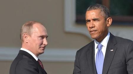 Tổng thống Nga Putin (trái) gặp Tổng thống Mỹ Obama tại hội nghị G20