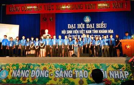 images dh hsv 2013 37 - Đồng chí Nguyễn Văn Nhuận được tái chọn cử giữ chức danh Chủ tịch Hội Sinh viên Việt Nam tỉnh Khánh Hòa khóa II (2013 - 2018)
