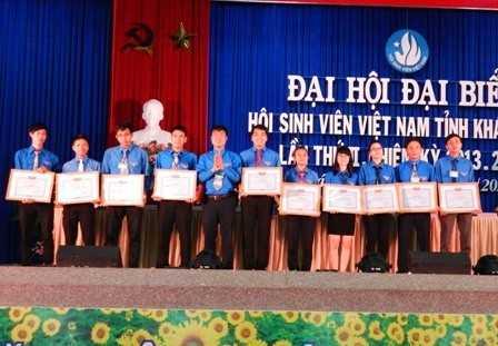 images dh hsv 2013 39 - Đồng chí Nguyễn Văn Nhuận được tái chọn cử giữ chức danh Chủ tịch Hội Sinh viên Việt Nam tỉnh Khánh Hòa khóa II (2013 - 2018)