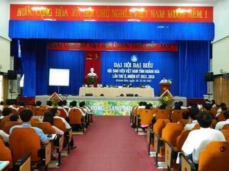 images dh hsv 2013 6 - Đại hội Hội Sinh viên Việt Nam tỉnh Khánh Hòa lần thứ II, nhiệm kỳ 2013 - 2018, phiên thứ nhất