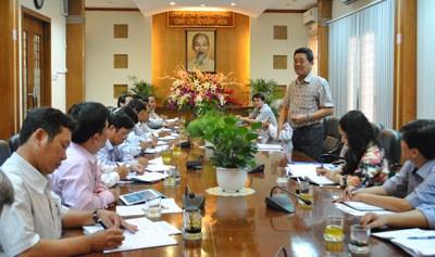 Đồng chí Lê Thanh Quang phát biểu chỉ đạo.