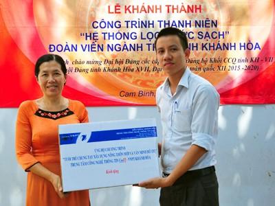 images1059539 doan3 1 - Khánh thành công trình hệ thống lọc nước sạch tại xã Cam Bình