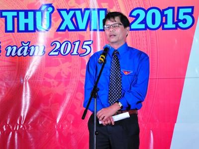 Ông Nguyễn Tấn Tuân phát biểu tại lễ khai mạc.