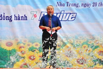 Ông Đào Công Thiên phát biểu tại lễ xuất quân
