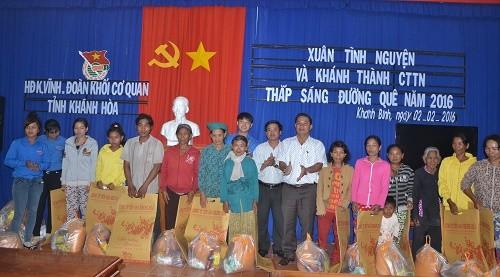 Đoàn Khối các cơ quan tỉnh Khánh Hòa: Tặng 50 suất quà Tết cho các hộ gia đình chính sách, khó khăn