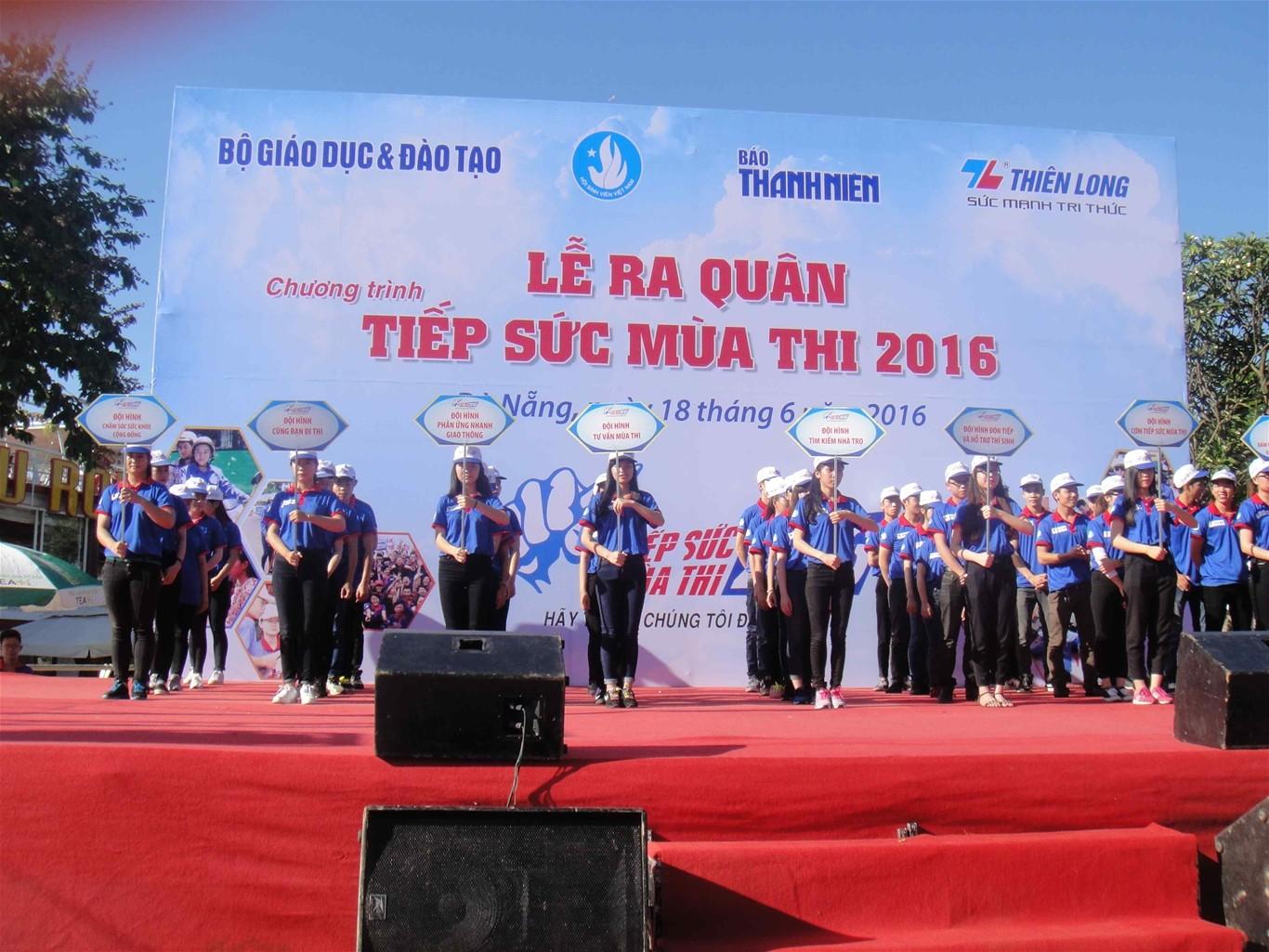 Các đội hình Tiếp sức mùa thi 2016