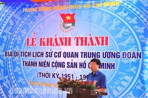 DSC08702 1 - Khánh thành Bia di tích lịch sử cơ quan Trung ương Đoàn tại Tuyên Quang