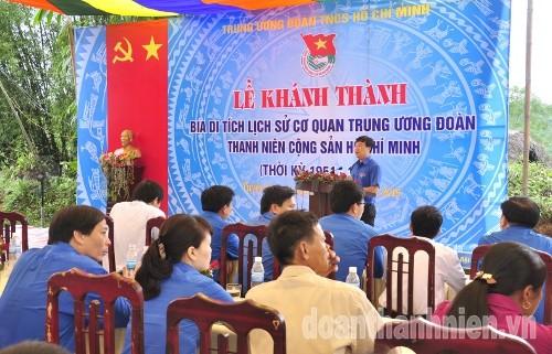 DSC08915 1 - Khánh thành Bia di tích lịch sử cơ quan Trung ương Đoàn tại Tuyên Quang