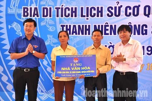 DSC0895 1 - Khánh thành Bia di tích lịch sử cơ quan Trung ương Đoàn tại Tuyên Quang