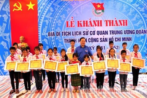 DSC09145 1 - Khánh thành Bia di tích lịch sử cơ quan Trung ương Đoàn tại Tuyên Quang