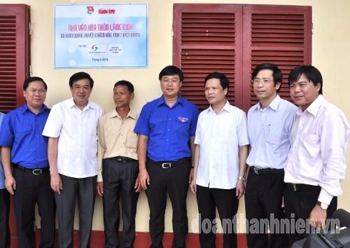 DSC1001 1 - Khánh thành Bia di tích lịch sử cơ quan Trung ương Đoàn tại Tuyên Quang