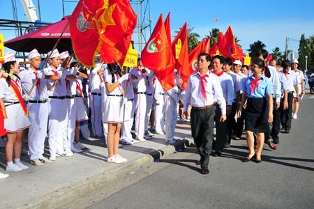 images1148410 APP 7597 1 - Hơn 2.000 đội viên tham gia lễ diễu hành nghi thức đội