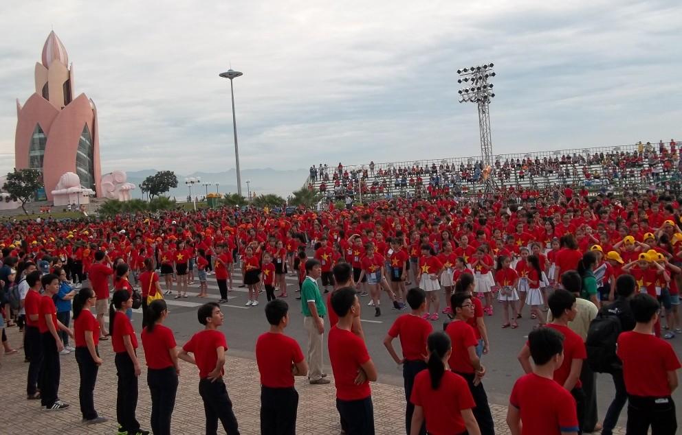 nha thieu nhi Khanh Hoa202 kyluc vn - Gần 5000 thiếu nhi tham gia xác lập Kỷ lục Việt Nam tại Festival Thiếu nhi toàn quốc