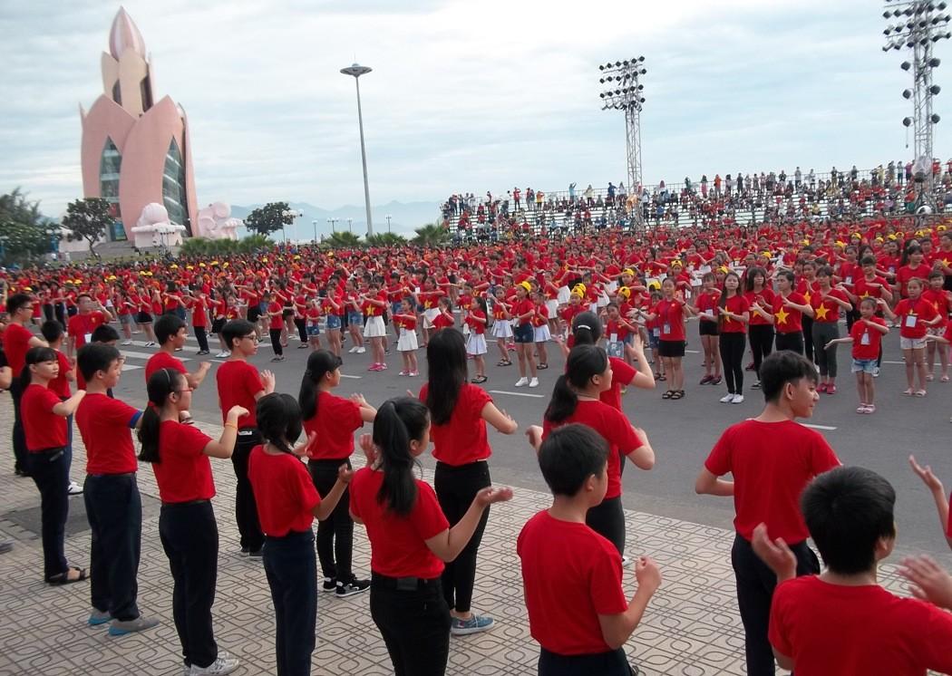 nha thieu nhi Khanh Hoa203 kyluc vn - Gần 5000 thiếu nhi tham gia xác lập Kỷ lục Việt Nam tại Festival Thiếu nhi toàn quốc