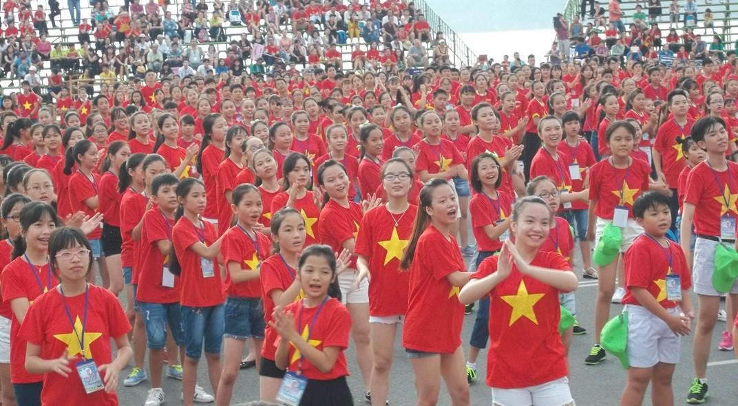 nha thieu nhi Khanh Hoa204 kyluc vn - Gần 5000 thiếu nhi tham gia xác lập Kỷ lục Việt Nam tại Festival Thiếu nhi toàn quốc