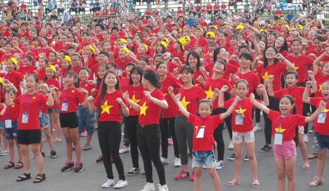 nha thieu nhi Khanh Hoa5 kyluc vn - Gần 5000 thiếu nhi tham gia xác lập Kỷ lục Việt Nam tại Festival Thiếu nhi toàn quốc