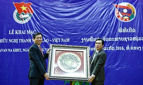Khai mạc Gặp gỡ hữu nghị thanh niên Việt Nam - Lào năm 2016