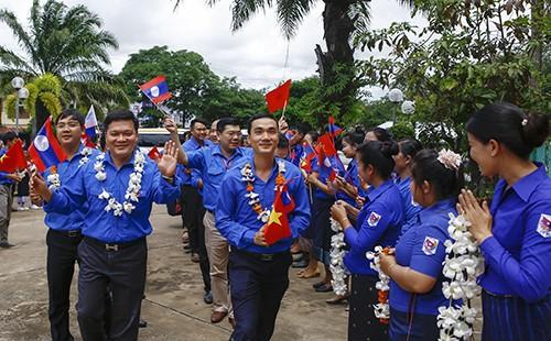 0587 - Tạo mọi điều kiện để đoàn viên, sinh viên Lào - Việt Nam được hợp tác, trao đổi kinh nghiệm