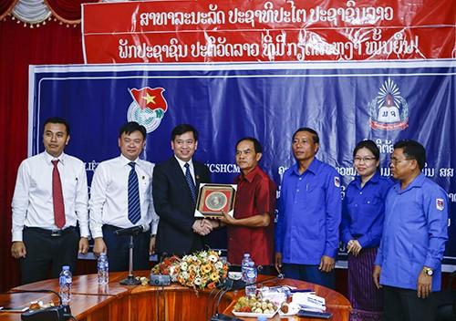 07011 - Tạo mọi điều kiện để đoàn viên, sinh viên Lào - Việt Nam được hợp tác, trao đổi kinh nghiệm