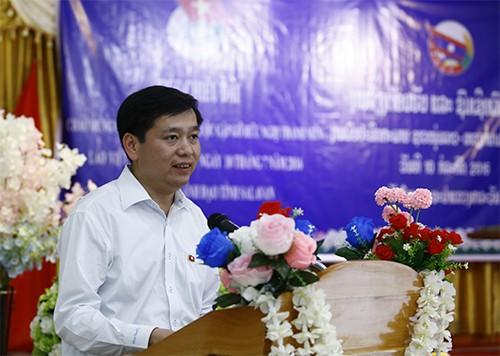 1596 - Thắm tình hữu nghị thanh niên hai nước Việt Nam - Lào