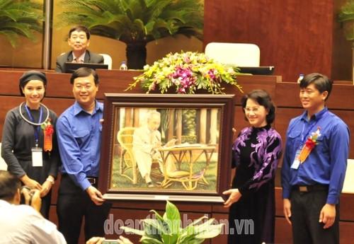"""DSC032328129 - Chủ tịch Quốc hội Nguyễn Thị Kim Ngân: Xây dựng thế hệ thanh niên thời kỳ mới có """"Tâm trong- Trí sáng- Hoài bão lớn"""""""
