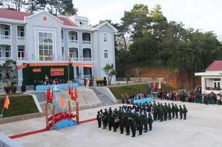 Quang cảng tại buổi lễ giao nhận quân năm 2017 tại huyện Khánh Sơn