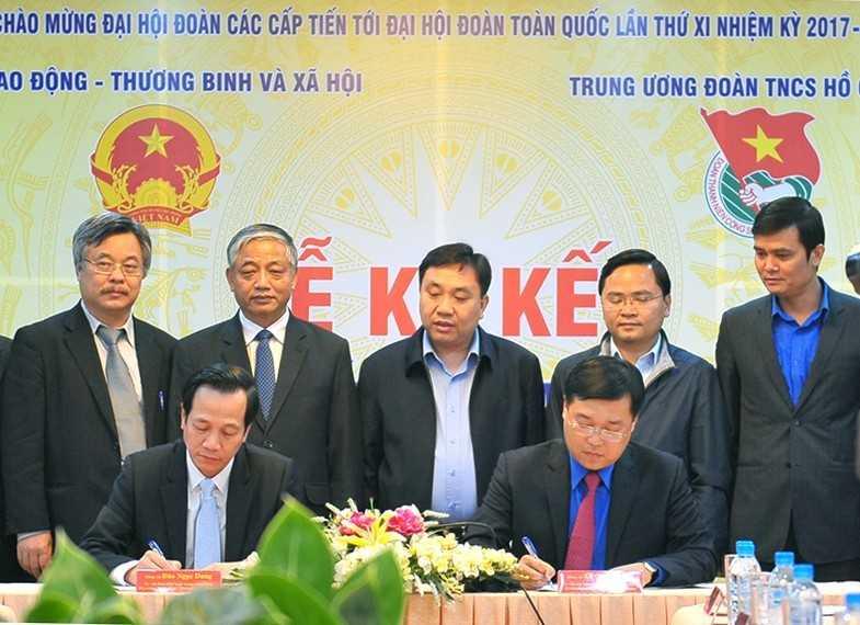 TWD(2) - Trung ương Đoàn ký kết phối hợp với Bộ Lao động Thương Binh & Xã hội giai đoạn 2017 - 2020