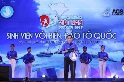 Anh Nguyễn Long Hải, Bí thư Trung ương Đoàn phát biểu