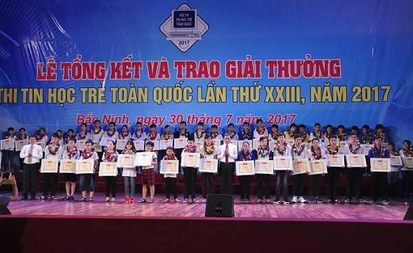 Tong ket Hoi thi Tin hoc tre toan quoc 2017 Trao giai Nhi - Tổng hợp kết quả Hội thi Tin học trẻ toàn quốc năm 2017