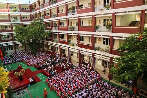 Toàn cảnh lễ khai giảng tại Trường iSchool Nha Trang.