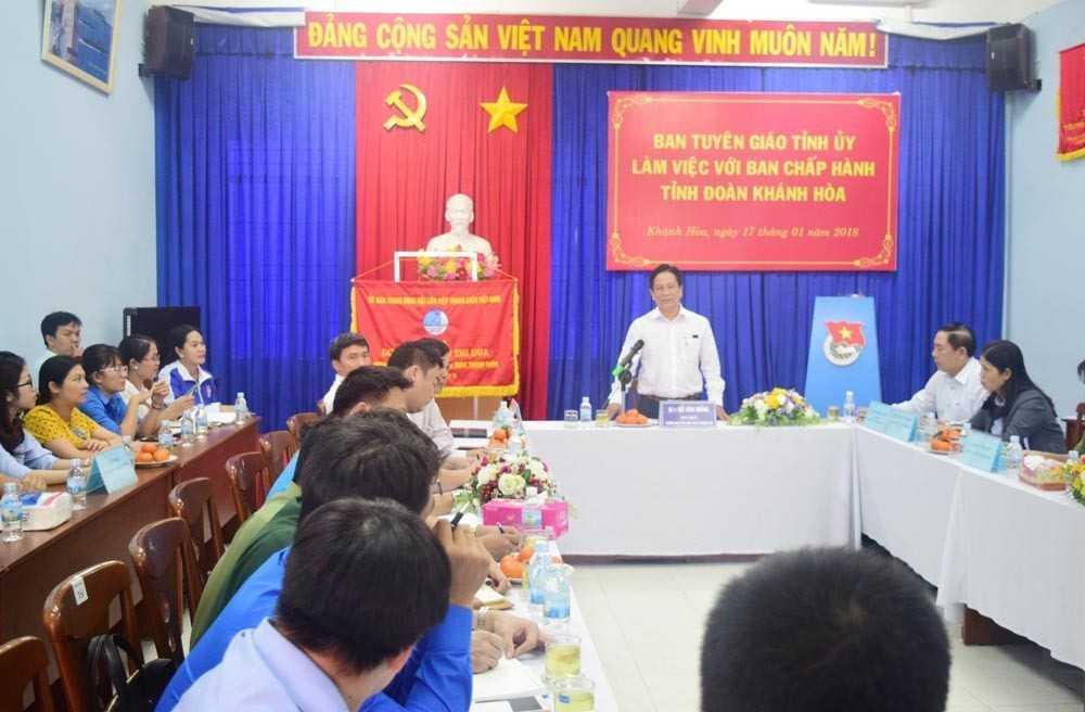 images 2018 01 ban tg tinh uy lam viec voi bch tinh doan dsc 0249 ccb0a - Ban Tuyên giáo Tỉnh ủy làm việc với Ban Chấp hành Tỉnh đoàn
