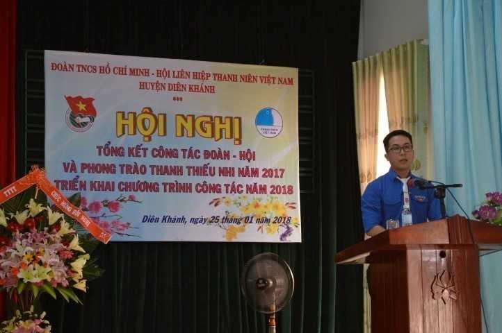 images 2018 01 dien khanh tong ket 2017 image001 ee36a - DIÊN KHÁNH: Hội nghị tổng kết công tác Đoàn, Hội và phong trào thanh thiếu nhi năm 2017,
