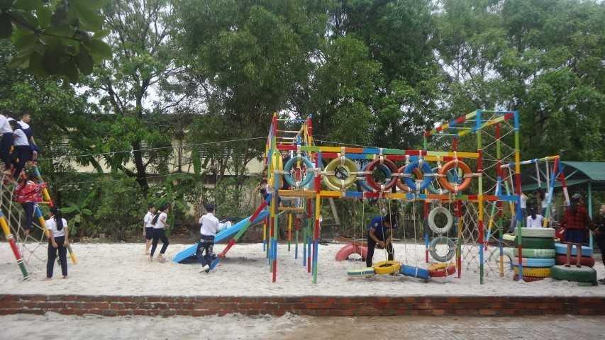 """images 2018 04 cam lam khanh thanh san choi tre em 11 8f34e - CAM LÂM: Khánh thành Công trình thanh niên """"Sân chơi liên hoàn cho trẻ em"""""""