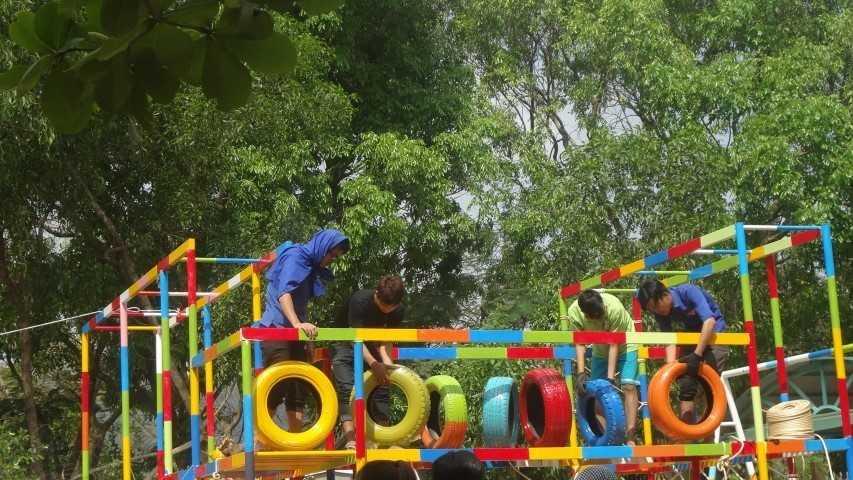 """images 2018 04 cam lam khanh thanh san choi tre em 4 5d200 - CAM LÂM: Khánh thành Công trình thanh niên """"Sân chơi liên hoàn cho trẻ em"""""""