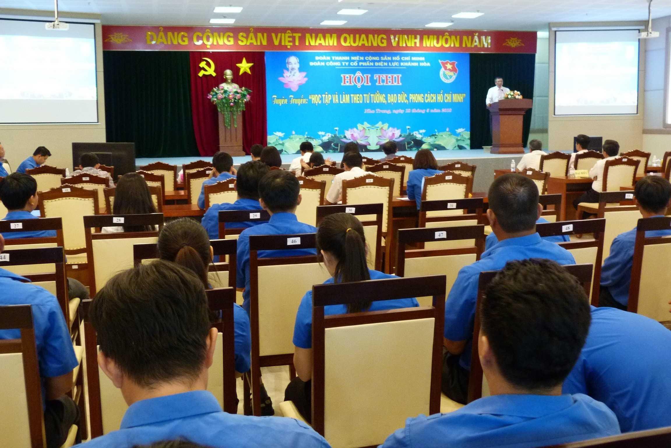1 TGD Ng Cao Ky phat bieu 1 - Tuổi trẻ Công ty Cổ phần Điện lực Khánh Hòa học tập tấm gương Bác Hồ vĩ đại