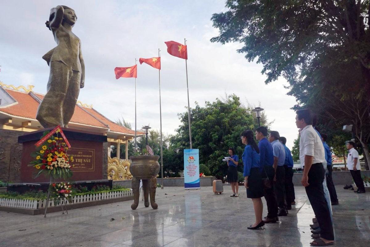Đoàn khối Doanh nghiệp: Hành trình theo bước chân những người anh hùng năm 2018 tại tỉnh Bà Rịa - Vũng Tàu